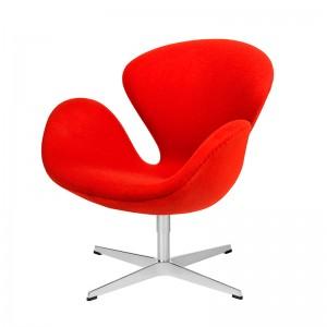 Butaca Swan en tapicería Fame rojo en Moises Showroom