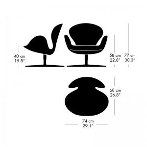 Medidas Butaca Swan en Moises Showroom
