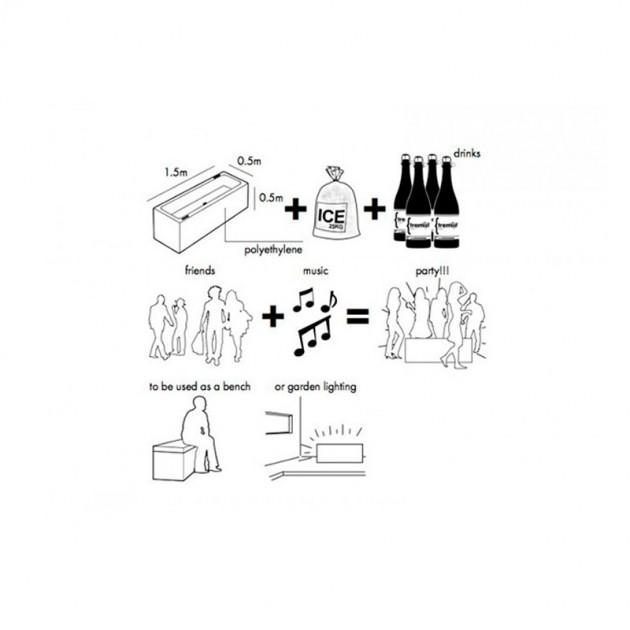 Medidas y utilidades de Icecube de Extremis  disponible en Moisés Showroom