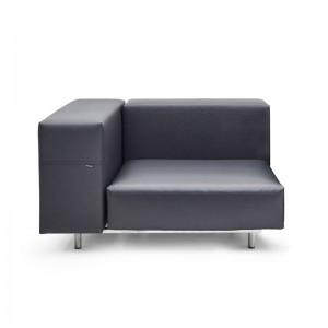 Sofá esquina derecha Walrus color gris oscuro cojín 80cms de extremis disponible en Moisés Showroom