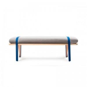 Banco On the road color gris y azul de RS Barcelona. Disponible en Moisés Showroom
