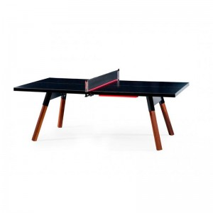 Mesa de Ping pong para exterior color negro You and me de RS Barcelona. Disponible en Moisés Showroom