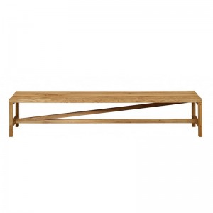 Banco Sitz en madera de roble encerado de e15. Disponible en Moisés showroom