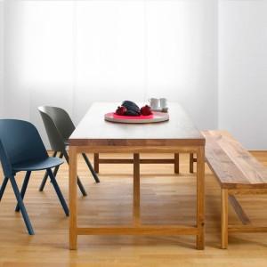 Ambiente comedor Mesa Platz en roble aceitado de e15. Disponible en Moisés showroom