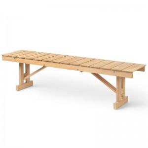 Banco BM1871 madera de teca Carl Hansen. Disponible en Moisés showroom