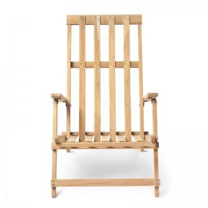 Deck chair BM5568 teca para exterior de Carl Hansen. Disponible en Moisés showroom
