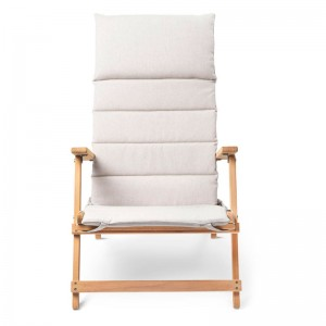 Deck chair BM5568 teca con cojín para exterior. Disponible en Moisés showroom