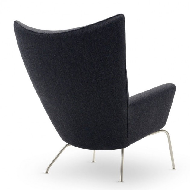 Respaldo sillón wing chair carl Hansen tela. Disponible en Moisés showroom