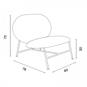 dimensiones silla Oblong de Northern. Disponible en Moisés showroom