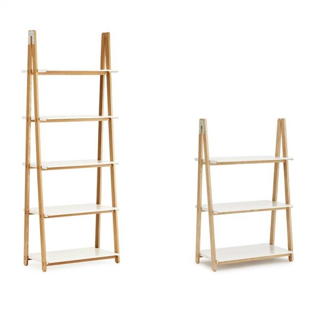 colección Estanterías One Step Up Bookcase alta color blanco de Normann Copenhagen