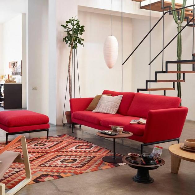 Ambiente Sofá Suita Classic rojo de Vitra en Moises Showroom