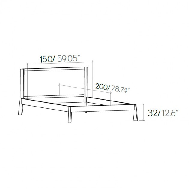 medidas cama breda 166 de Punt Mobles