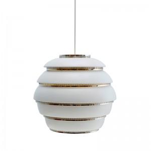 Lámpara de suspensión A331 blanco/cromado de Artek