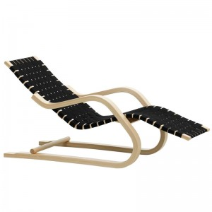 Lounge Chair 43 cincha negra de Artek