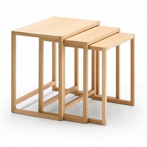 Mesa auxiliar Nido de Punt mobles en madera de roble