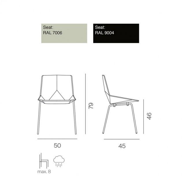 colores y medidas sillas Green estructura metálica Mobles 114