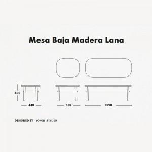 Medidas mesas Lana madera de Ondarreta