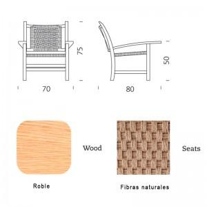dimensiones y acabados Butaca Mobles 114 Torres Clavé