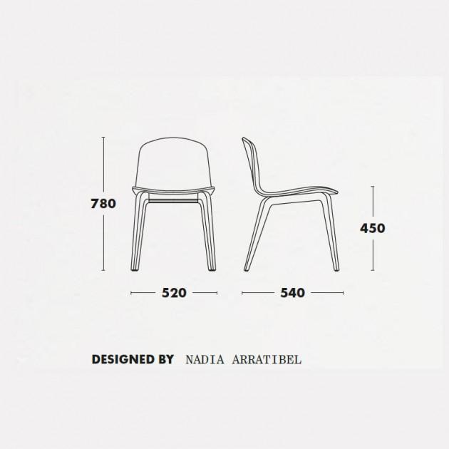 Medidas silla Bob XL de Ondarreta