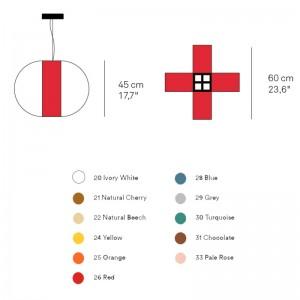 dimensiones y colores de Lámpara Luzifer Carambola SM