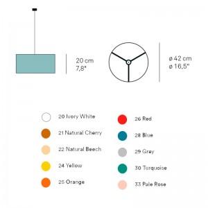 dimensiones y colores Lámpara suspensión Gea S de Luzifer