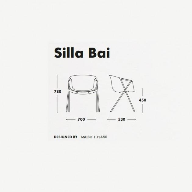 Medidas silla Bai polipropileno de Ondarreta
