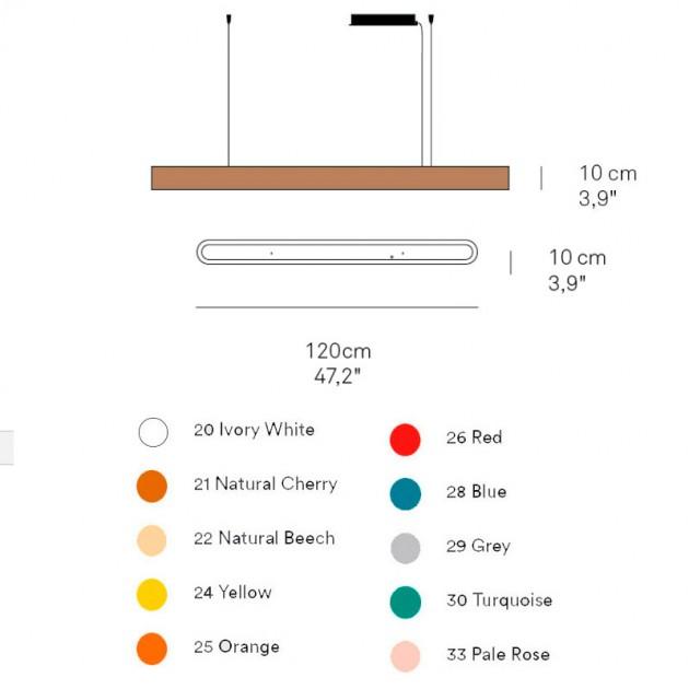 dimensiones y colores lámpara suspensión I-Club Luzifer pequeña