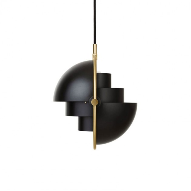 Lámpara Multi lite pendant Small brass color negro