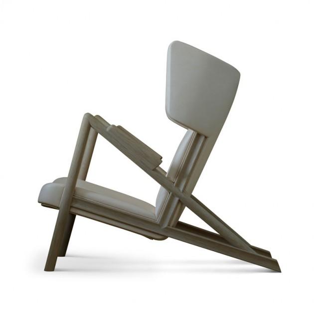 Perfil sillón Grasshopper roble de Finn Juhl en Moises Showroom