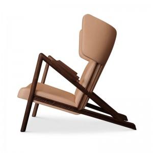 Perfil sillón Grasshopper nogal de Finn Juhl en Moises Showroom