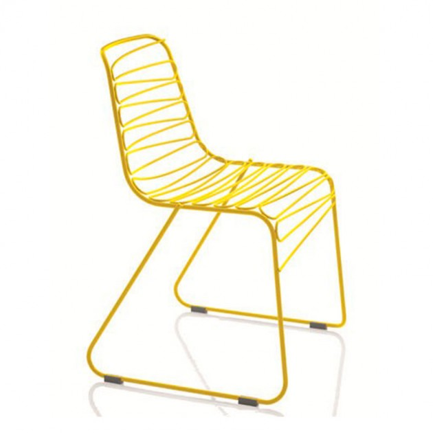 Silla Flux de Magis color amarillo