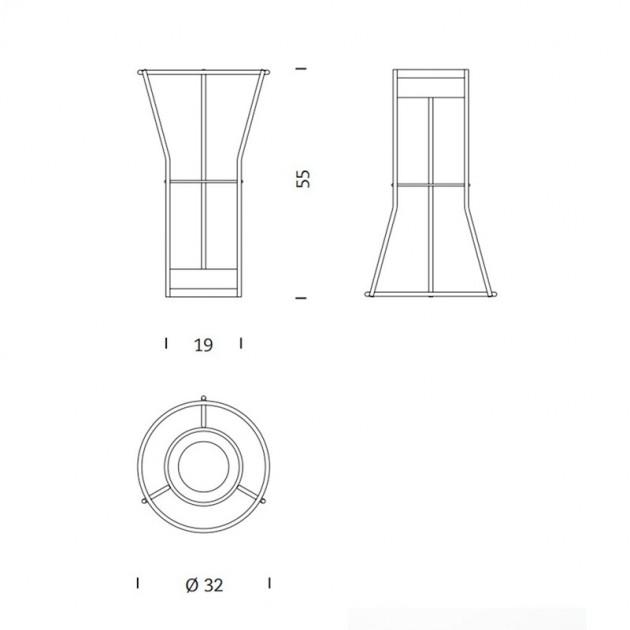 dimensiones cenicero Paragüero Tombal Mobles 114