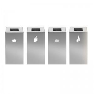 Papelera reciclaje Riga inox Mobles 114
