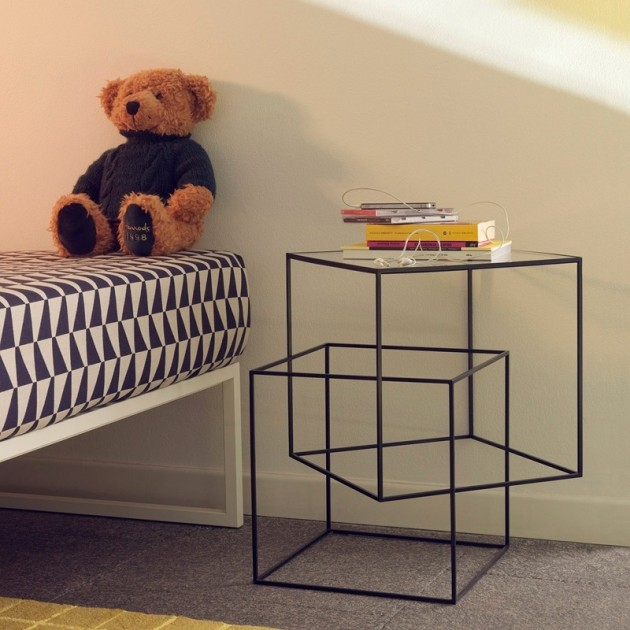 habitación infantil Mesa auxiliar Think black Cappellini
