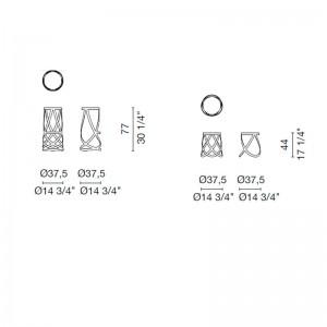 dimensiones Taburetes Ribbon Cappellini