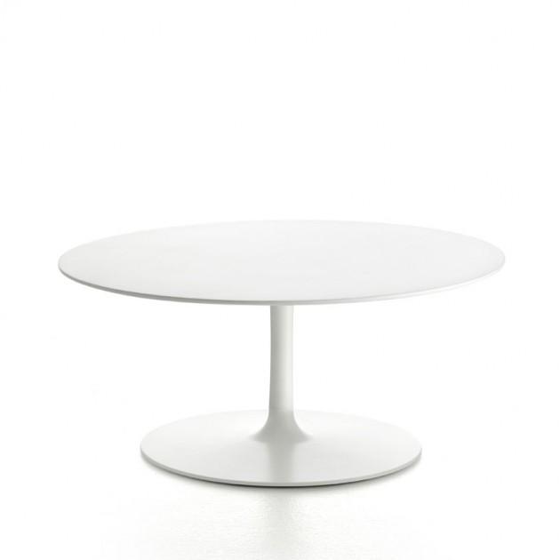 Flow Low Table 70 color blanco de MDF Italia en Moises Showroom