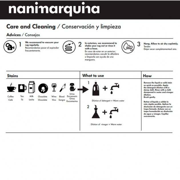 consejos de limpieza Alfombra Silhouette exterior Nanimarquina