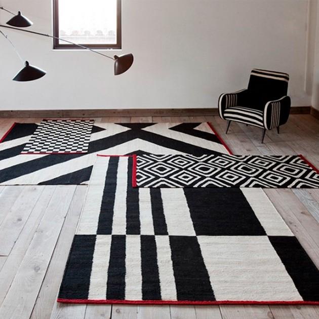 salón con Alfombra Mélange Pattern 4 Nanimarquina