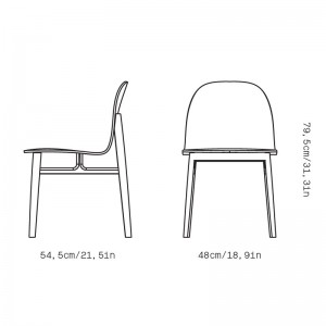 Medidas silla Terra Wood de Omelette-Ed en Moises Showroom