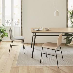 Silla Terra Metal roble natural tapizada de Omelette-Ed en Moises Showroom