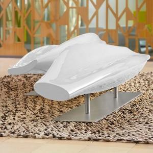 Sofá Inout fibra de vidrio blanco Cappellini