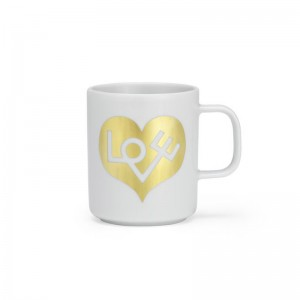 comprar Coffee mug love heart Vitra gold