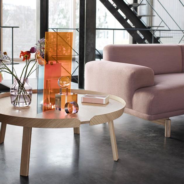 Detalle lateral sofá Compose 3 seater de Muuto tapicería en Moises Showroom