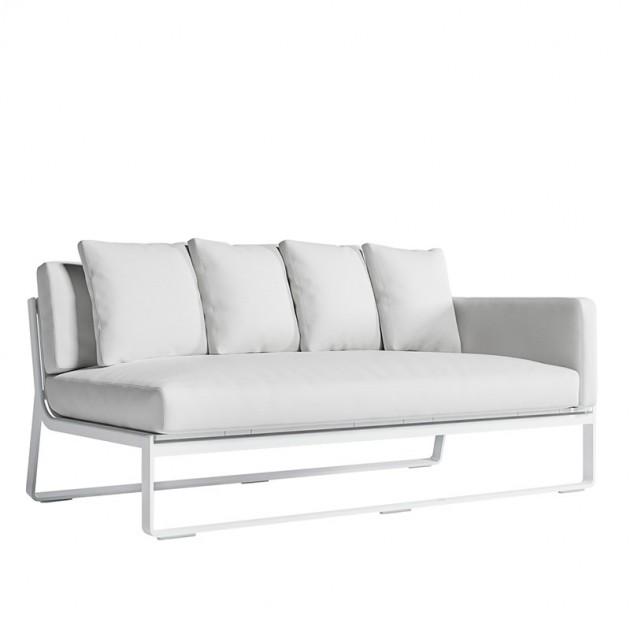 Sofá Modular 1 Flat blanco Gandia Blasco