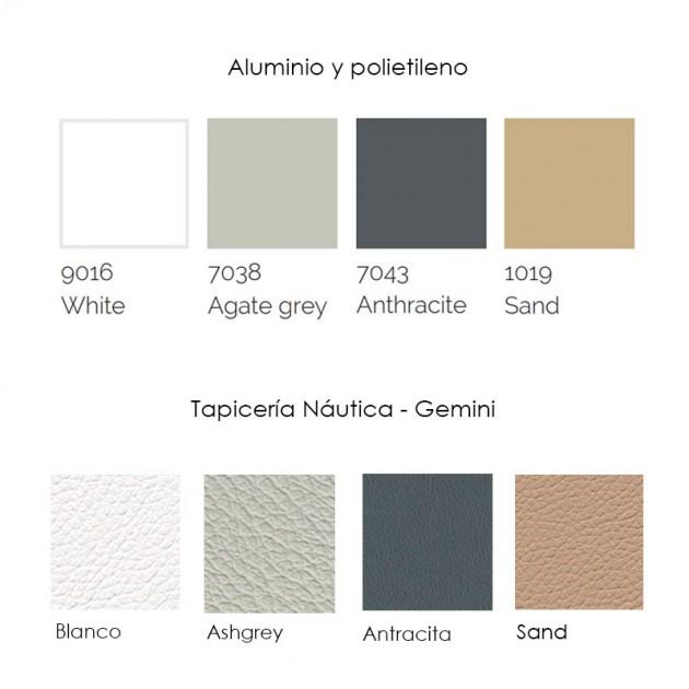 materiales y tapicerías Sofá Modular 1 Flat Gandia Blasco