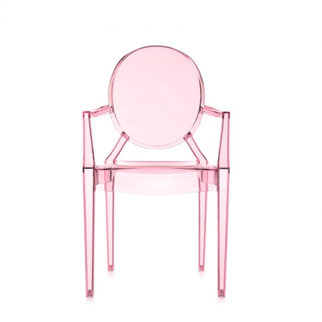 silla Lou Lou Ghost Kartell rosa