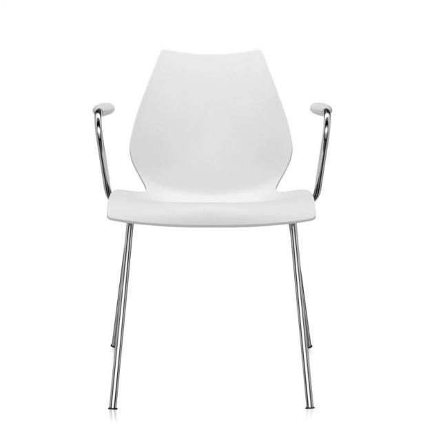comprar silla Maui con brazos Kartell blanca