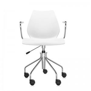 comprar silla Maui blanca con ruedas Kartell