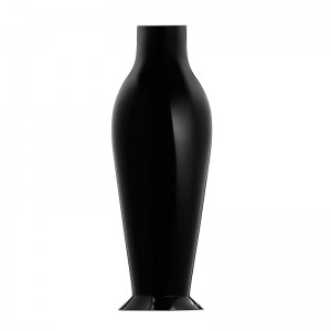 Jarrón Mises Flower power negro brillante Kartell