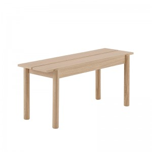 Banco Linear Wood 110x34 cm de Muuto en Moises Showroom